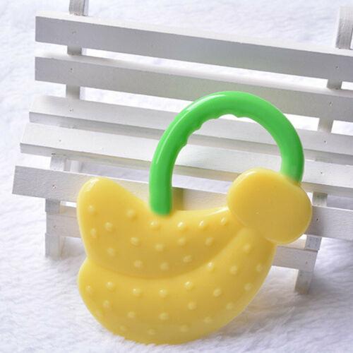 UK Lovely Toddlers Infants Baby Teething Toys Soft Silicone Fruit Teether Holder