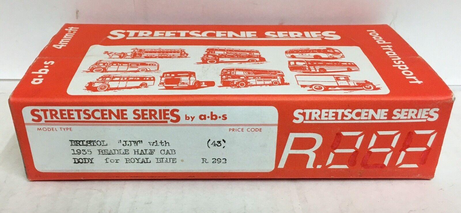 ABS STREETSCENE  BRISTOL JJW 1935 BEADLE WHITE METAL BUS KIT No R292