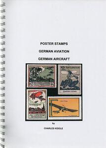 I-B-CK-Cinderella-Catalogue-Poster-Stamps-German-Aircraft-amp-Aviation