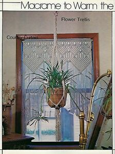 Window Curtains & Room Divider Patterns in Macrame for All Seasons II Book 7240