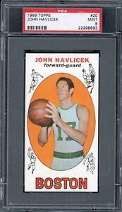 John-Havlicek-1969-Topps-Rookie-Basketball-Card-20-PSA-9-HIGH-END