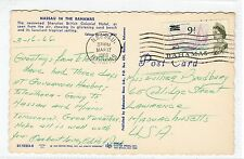 SHERATON BRITISH COLONIAL HOTEL, NASSAU: Bahamas postcard sent to USA (C24117)