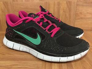 RARE-Nike-Free-Run-Black-Stadium-Green-Fireberry-Platinum-Sz-11-510643-036-WO
