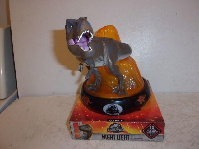 NEW Jurassic World T-REX Dinosaur NIGHT LIGHT Auto Shut-Off Child-Safe LED Lite