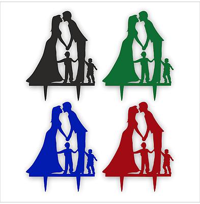Umile Fidanzato & Fidanzata Con Due Ragazzi Fidanzamento Decorazioni Per Torta - 3mm Di Alta Qualità Acrilico- Adatto Per Uomini E Donne Di Tutte Le Età In Tutte Le Stagioni