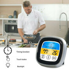 BBQ Thermometer For Oven Meat Grill With Probes Bluetooth Cooking Led Timer S