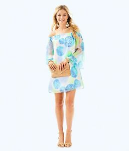 3ce0fc2261fa2b NEW Lilly Pulitzer ABI SILK DRESS Resort White Dune Our Thing Sz XS ...