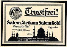 Orientalische Tabak-u.Cigaretten-Fabrik Yenidze Dresden Historische Annonce 1914
