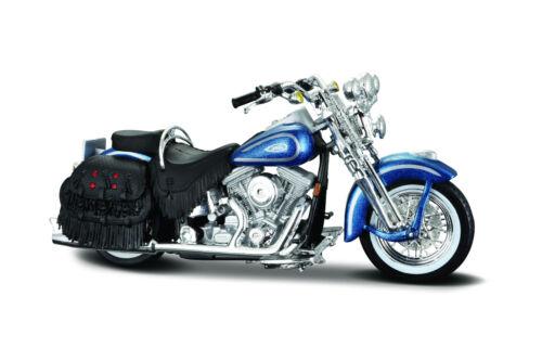 Harley-Davidson 1999 FLSTS Heritage Softail Springer blau 1:18  Motorradmodell
