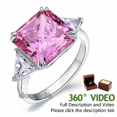 JewelryPalace Celtic Knot 0.8ct Created Pink Sapphire Ring 925 Sterling Silver