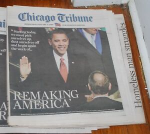January-21-2009-Chicago-Tribune-Barack-Obama-Inauguration-Newspaper