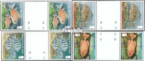 Ascension 1098ZS1101ZS between steg couples mint never hinged mnh 2010 Fish the