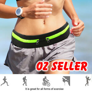 Waist Running Pocket Zip Belt Lycra Bum Bag Hiking Cycling Jogging Travel Pouch