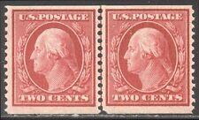U.S. #388 RARE Mint LINE PAIR w/Cert - 2c Carmine, SLW P12 Coil