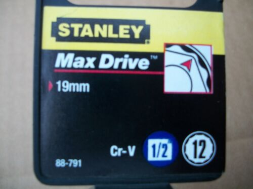 NEW STANLEY 1//2 in Drive 19 mm MAX DRIVE 12 POINT SOCKET
