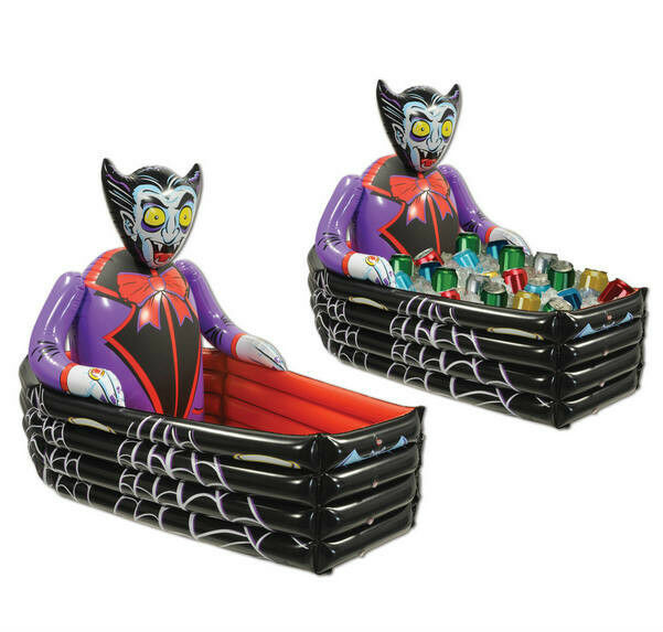 Inflatable Vampire and Coffin Cooler Halloween Party Decoration