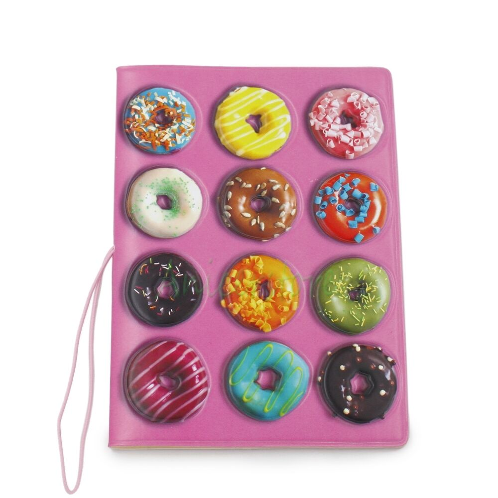 3D Doughnuts PVC Identity Card Passport Holder Protect Cover CASE Travel Bag