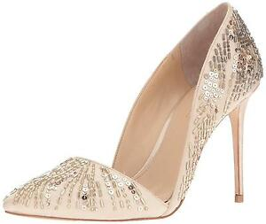 Imagine-Vince-Camuto-Womens-Ova-d-039-Orsay-Pump-Dress-Pumps-SOFT-GOLD-SATIN-6M-US