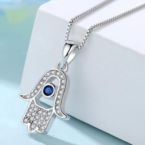 Full Range Of 925 Sterling Silver Hand Of Fatima Evil Eye Necklace