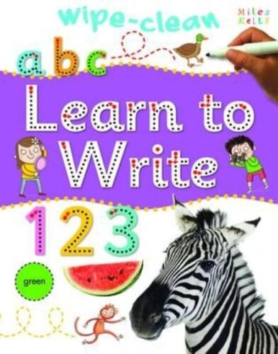 1 of 1 - Learn to Write (Wipe Clean), Miles Kelly, Very Good Book