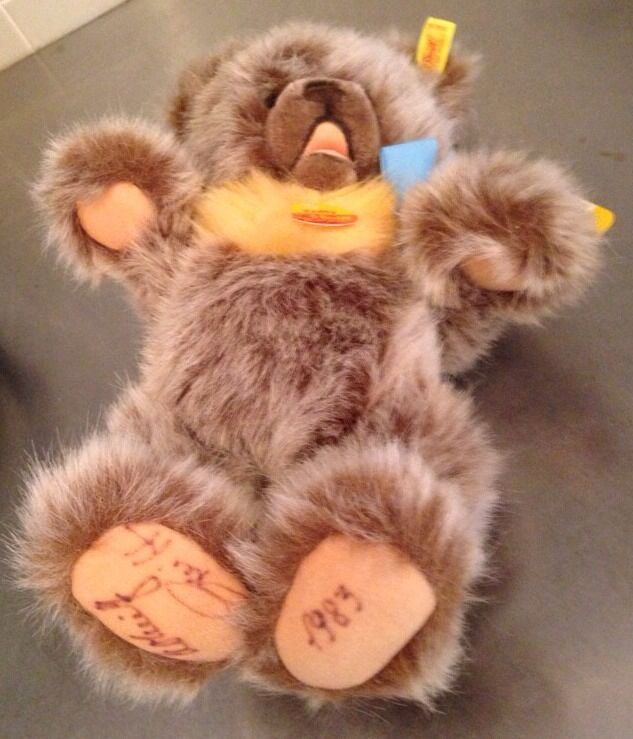 Steiff Zotty Teddy Bear 0302 30 Original Tags Signed Paws Jointed Movable 13