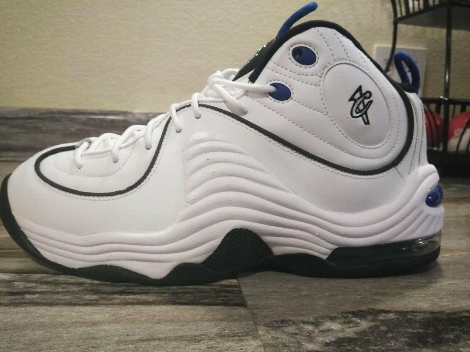 Nike air penny ii taglia 10 bianco blu 333886-100 nwob prezzo ridotto