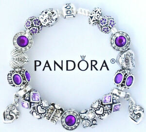 Image Is Loading Authentic Pandora Silver Charm Bracelet With European Heart