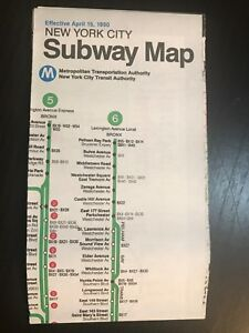 Mta Subway Map In 1990.Details About Vtg April 1990 Nyc New York City Subway Map Pocket Mta Guide