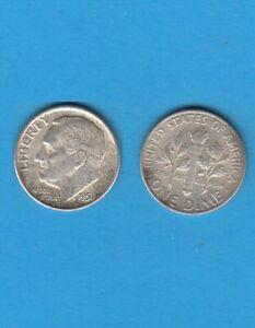 $ Etats-unis One Franklin D. Roosevelt Dime 1951 Philadelphia Silver Coin Usa
