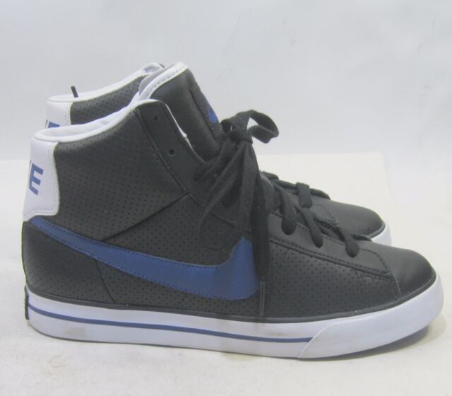 buy online 07741 b2586 Nike Sweet Classic High GsPs BlackDeep Royal - White 367112 005 Size