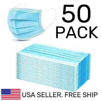 50-PCS-Disposable-Face-Mask-Protective-3-Layers-Air-Filter-Earloop-Facemask