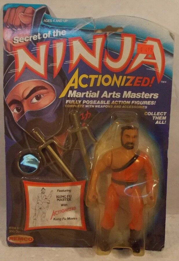 Secret Of The Ninja - Kung Fu Master Actionized Mask Swords Remco (MOC)