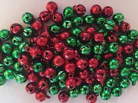 Small Christmas Jingle Bells Bead Charms. Red, Green or Assorted Colours (SCF09)