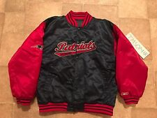 New England Patriots Satin NFL Reebok Reversible Jacket Youth L Gridiron Classic