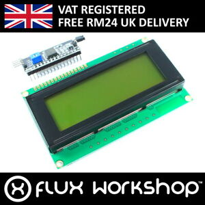 20x4-Green-LCD-with-I2C-Interface-Module-2004A-HD44780-Display-Flux-Workshop