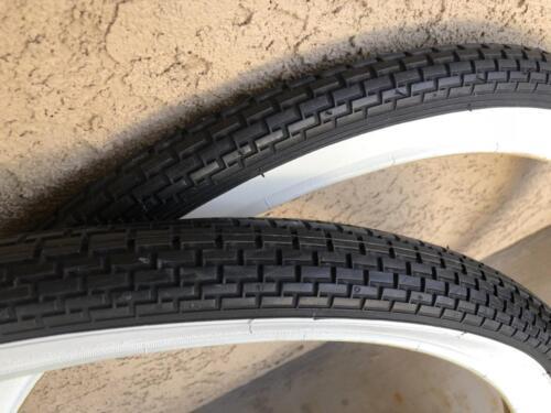 "Pair of BRICK Black White Wall 26 x 2.125 Beach Cruiser Bike Bicycle Tires 26/"""