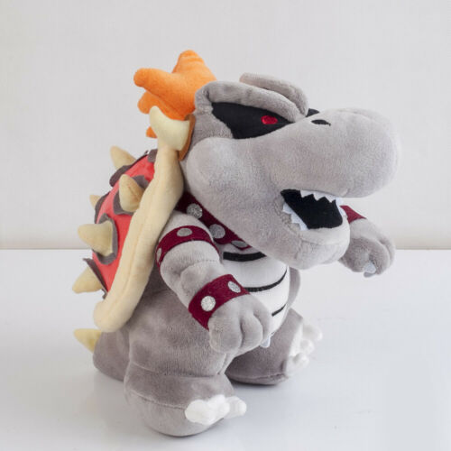 Super Mario Bros Dry Bowser Bone Koopa Plush Toy Soft Stuffed Animal Doll 10/'/'