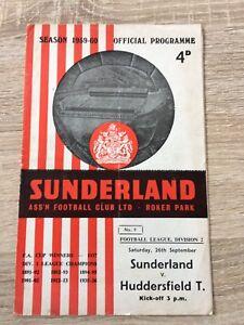 SUNDERLAND-v-HUDDERSFIELD-TOWN-26th-September-1959-Division-2