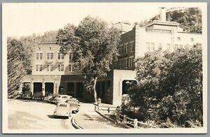 RPPC Postcard Richardson Springs CA vintage cars parked on the street Eastman