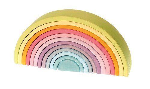 Grimm's Gioco e Legno Design 10673 12-teiliger Arcobaleno Pastello Waldorf