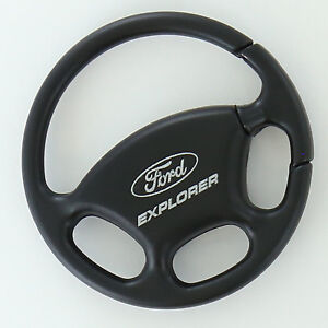 Ford Explorer Black Steering Wheel Key Ring