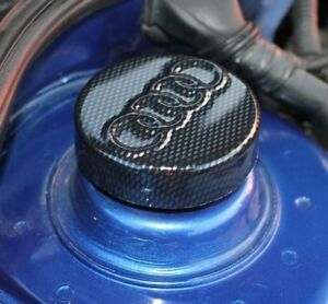 Audi-A3-8-L-MK1-Strut-Cap-Couvre-AUDI-logo-Carbon-Effect