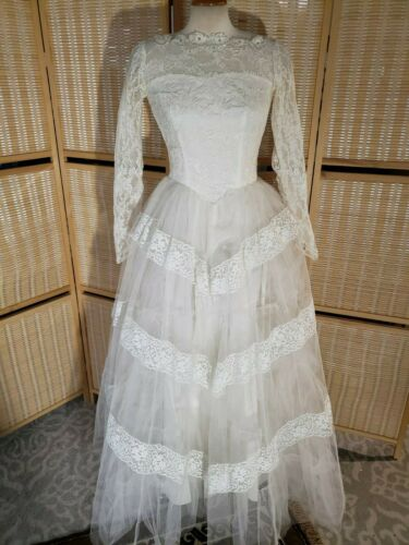 Vintage sax  Victorian style WEDDING DRESS praire