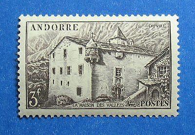 Flavor In 1944 Andorra French 3fr Scott# 91 Michel # 109 Unused Nh Cs27729 Fragrant