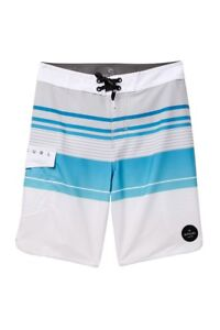 Rip Curl Boys 28 Watchtower Blue Black Green Tropical Surf Swim Board Shorts