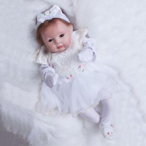 22in Realistic Silicone Vinyl Reborn Baby Dolls Cute Newborn Girl With Clothes Ebay