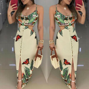 Femme-Sexy-Robe-ete-Decontractee-Manches-Courts-Col-en-V-Moulants-Cocktail-Robe