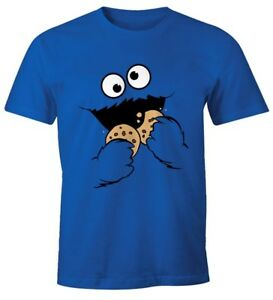 Herren-T-Shirt-Kruemelmonster-Keks-Cookie-Monster-Fasching-Karneval-Kostuem