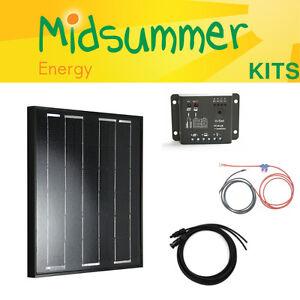 50 W 12 V Midsummer énergie tout-Noir Mono Chargeur solaire Kit-Allemand de cellules solaires