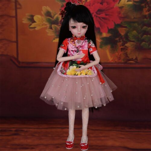 BJD Doll 45cm 1//4 Ball Jointed Cute Girl Free Face Makeup Wigs Clothes FULL SET